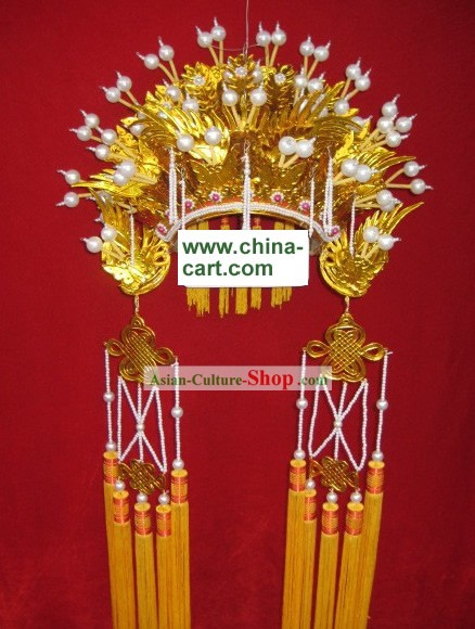 Chinese Classical Golden Phoenix Crown