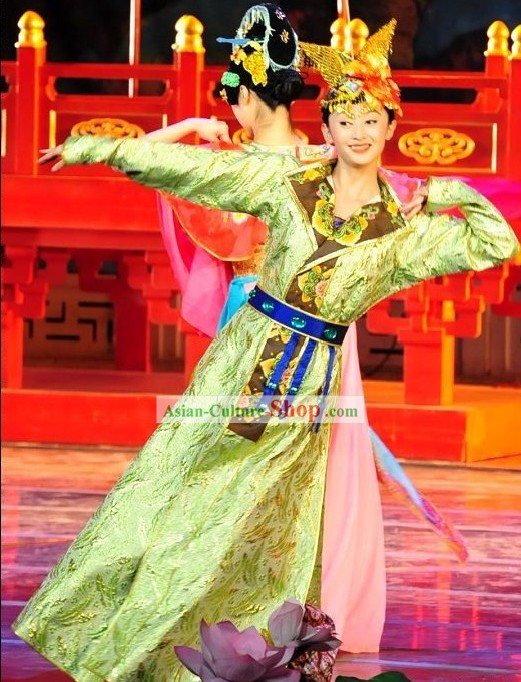 Chinese Ancient Han Costumes Comoplete Set