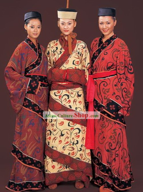 Ancient Chinese Han Mandarin Qu Ju Clothing