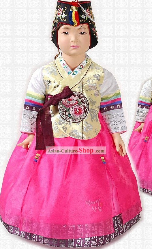 Ancient Korean Hanbok Dress for Girls