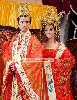Chinese Emperor Wedding Dress Complete Set
