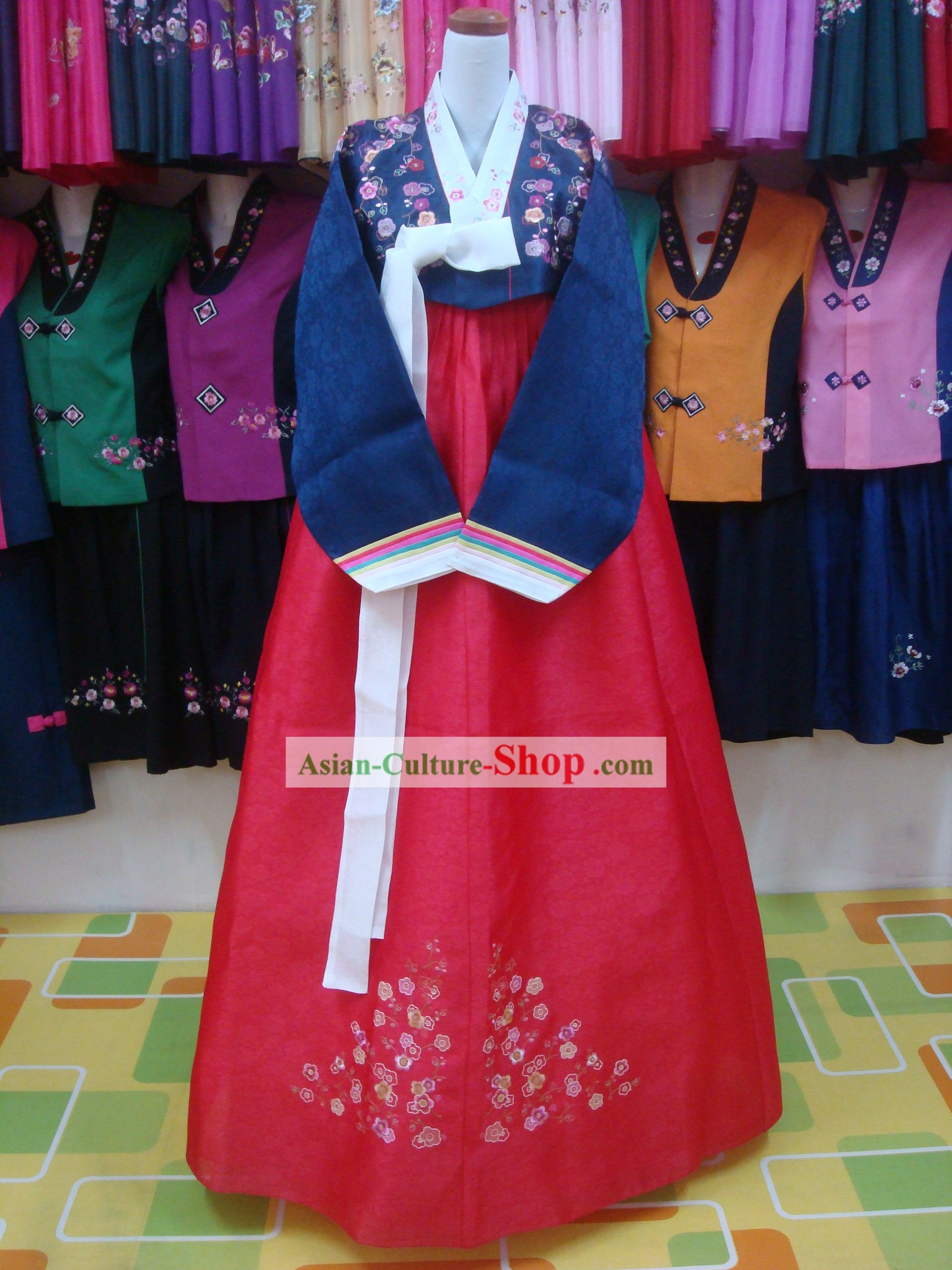 Korean Classical Mother Hanbok Wedding Dress