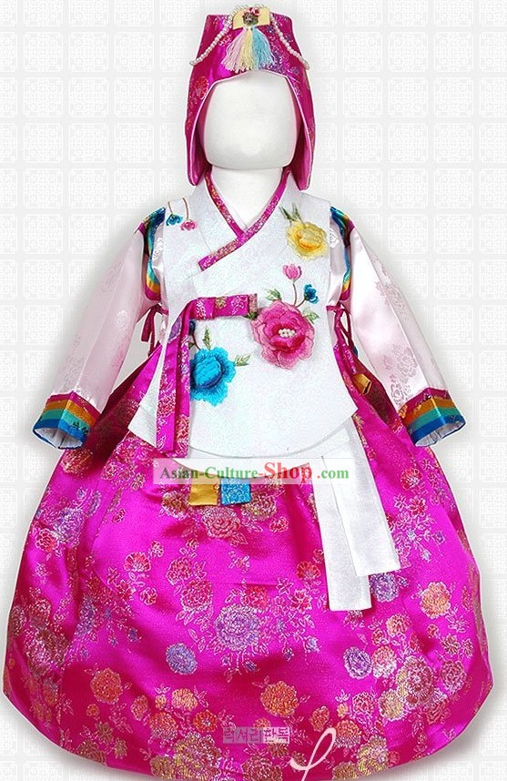 Traditional Korean Girl Hanbok Birthday Dress Set