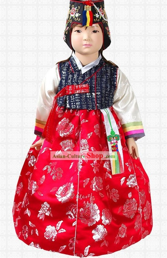Traditional Korean Girl Hanbok Complete Set