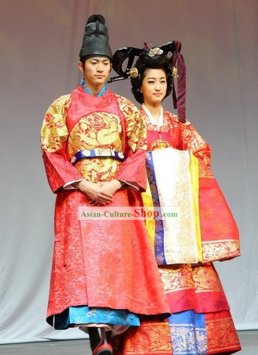Ancient Korean Emperor and Empress Costumes