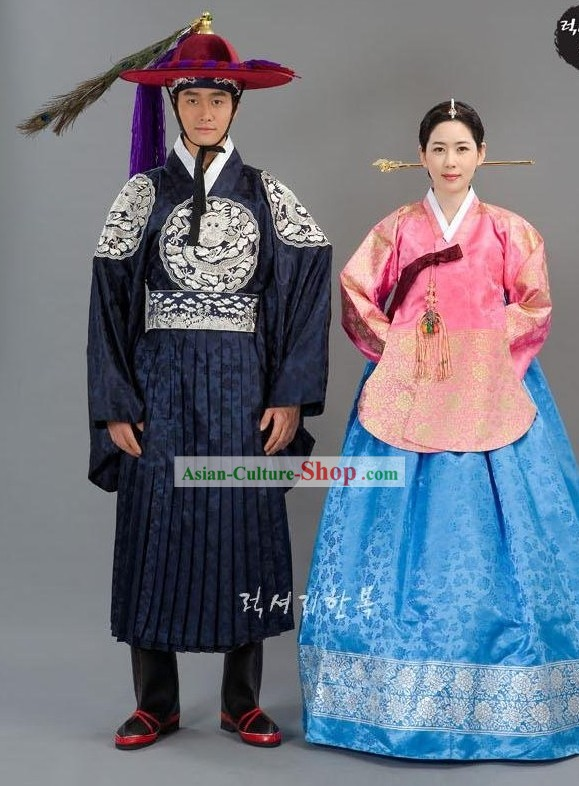 Ancient Korean Wedding Dress for Men and Women
