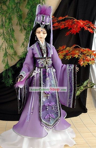 Ancient Chinese Magician Cosplay Costume Complete Set