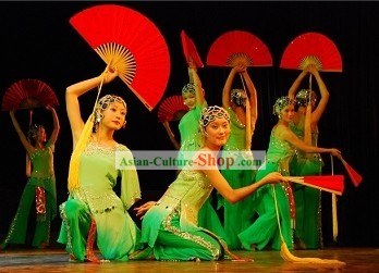 Chinese Traditional Drama Spirit Dance Costume Complete Set