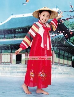 Traditional Dae Jang Geum Korean Hanbok Complete Set for Children