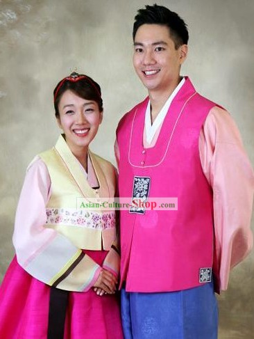 Korean Wedding Hanboks for Wife and Husband