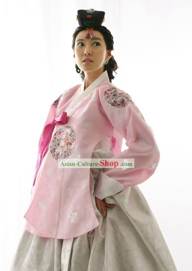 Traditional Korean Wedding Hanbok for Bride