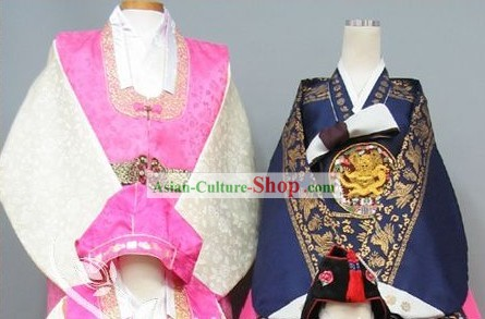 Traditional Korean Wedding Hanbok Dress for Couple