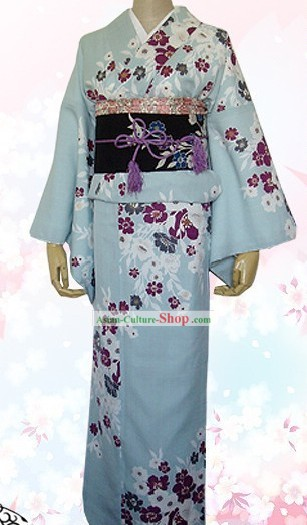 Japanese Traditiona Kimono Dress Complete Set for Women