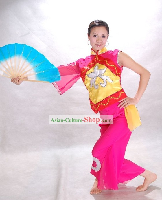 Chinese Traditional Fan Dance Costumes