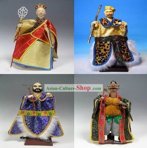 Chinese Handmade Journey to West Four Puppets Set