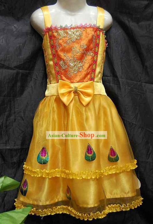 Traditional Thai Dance Costume Complete Set for Children