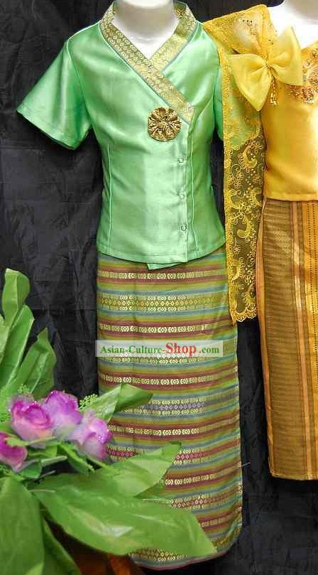 Asia Thai Dance Costume Complete Set for Children