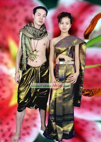Thai National Costume Complete Set for Couple