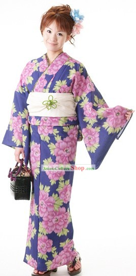 Japanese Yukata Kimono Dress for Women