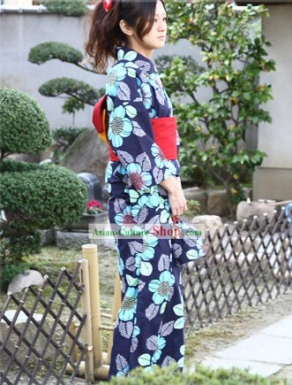 Traditional Japanese Kimono Yukata Dress for Women