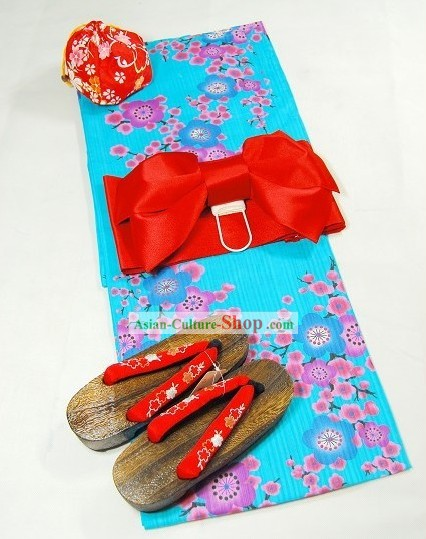 Japanese Kimono Yukata Dress for Women