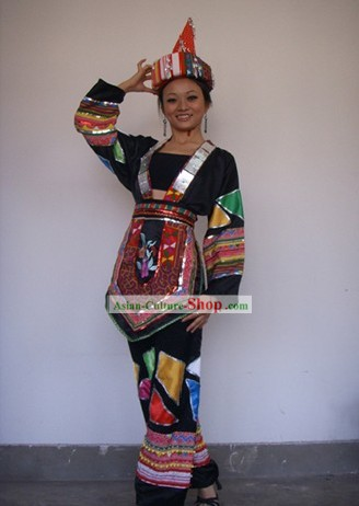 Chinese Yao Minority Costumes Set for Women