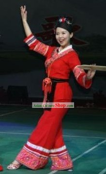Chinese Fan Dance Costume