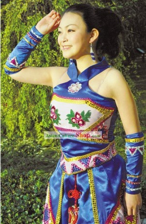 Chinese Minority Stage Performance Costumes Set