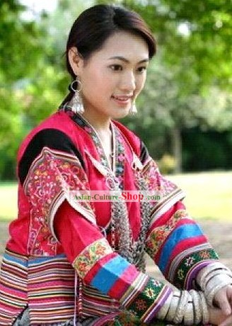Stunning Miao Minority Silk Thread Hand Embroidery Chinese Jacket