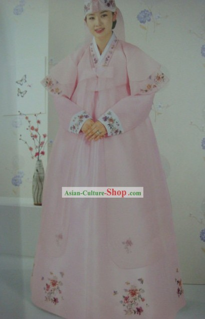 Traditional Korean Wedding Dress Hanbok Set for Bride