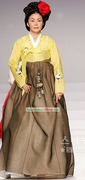 Ancient Korean Grandmother Hanbok Set