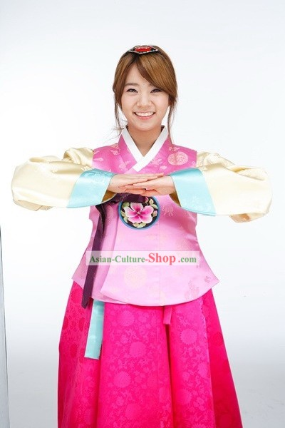 Modern Korean Hanbok Clothing for Young Girl