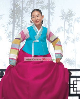 Traditional Korean Family Hanbok for Women