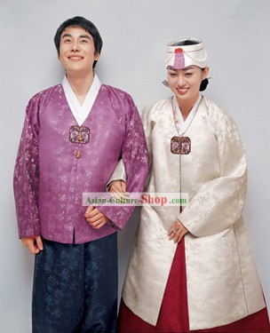 Traditional Korean Hanbok for Couple