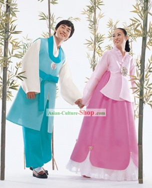 Traditional Korean Hanbok for Husband and Wife
