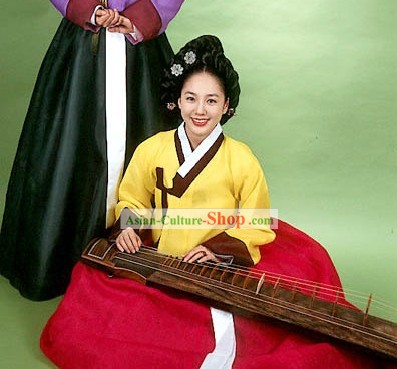 Ancient Korean Palace Dance Costumes Set