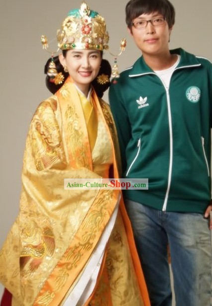 Ancient Korean Empress Costumes and Phoenix Crown Set