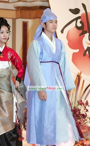 Ancient Korean Students Costumes Set