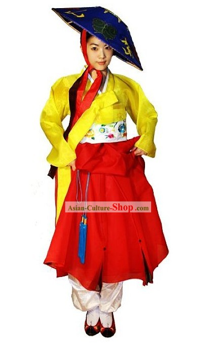 Ancient Korean Costume and Hat for Women