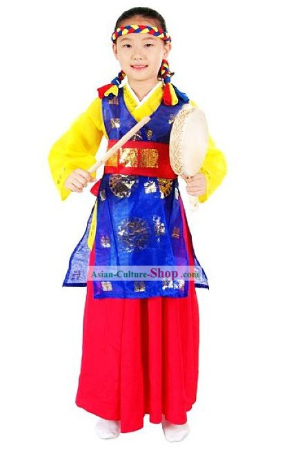Korean Fan Dance Costume Complete Set