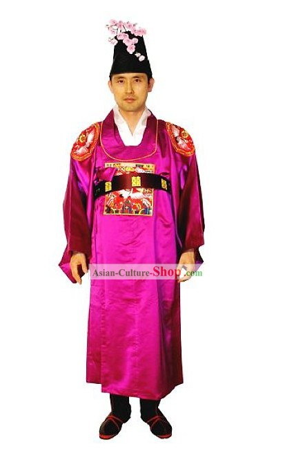 Ancient Korean Wedding Dress Set for Bridegroom