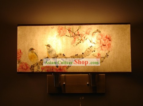 Original Chinese Flowering Apple Wall Lantern