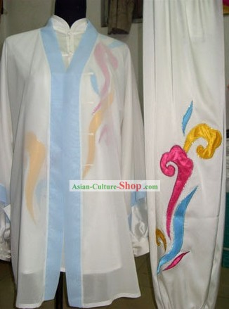 Chinese Tai Chi Performance Clothes and Cape Complete Set
