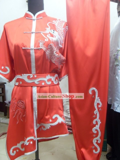 Professional Kung Fu Competiton Silk Dragon Suits