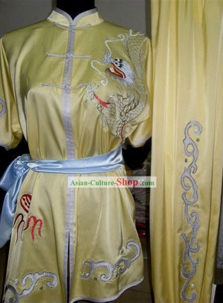 Dragon Playing Ball Silk Kung Fu Uniform