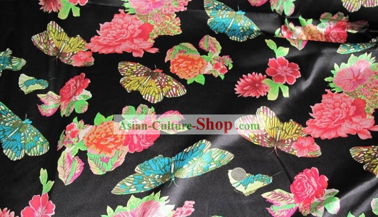 Chinese Pure Silk Butterfly Fabric