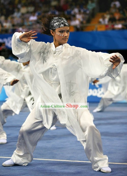 Chinese Wushu Silk Uniforms for Masters
