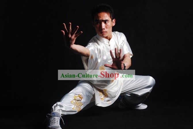 Chinese Professional Wushu Performance Silk Suit for Men
