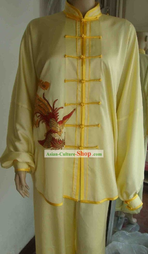 Chinese Phoenix Embroidery Kung Fu Dress Complete Set