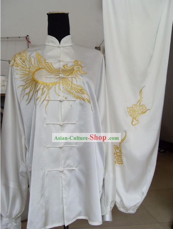Chinese Embroidery Phoenix Tai Chi Uniform Complete Set